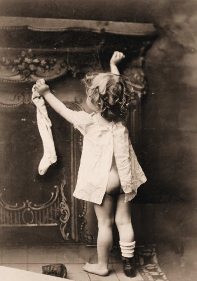 stocking hanging girl